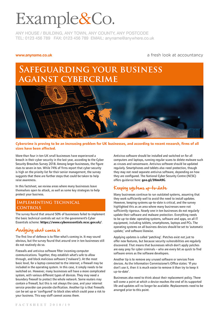 Safeguarding your business against cybercrime