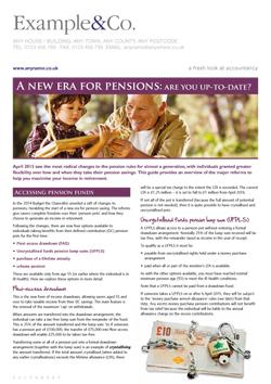 A New Era For Pensions: are you up-to-date?