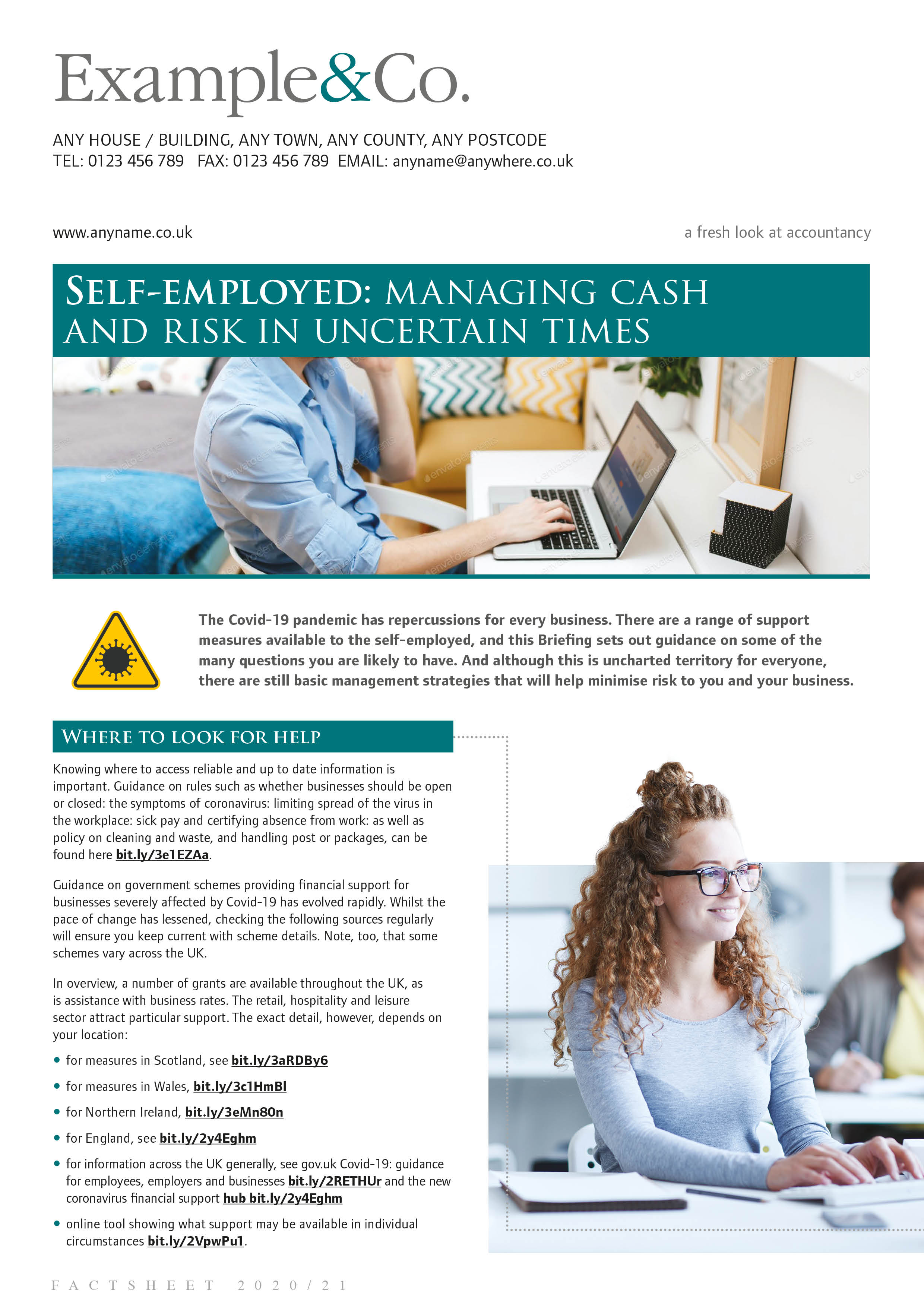Self-employed: managing cash and risk in uncertain times