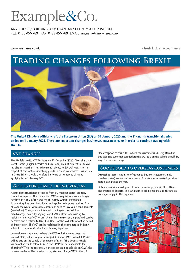 Trading changes following Brexit