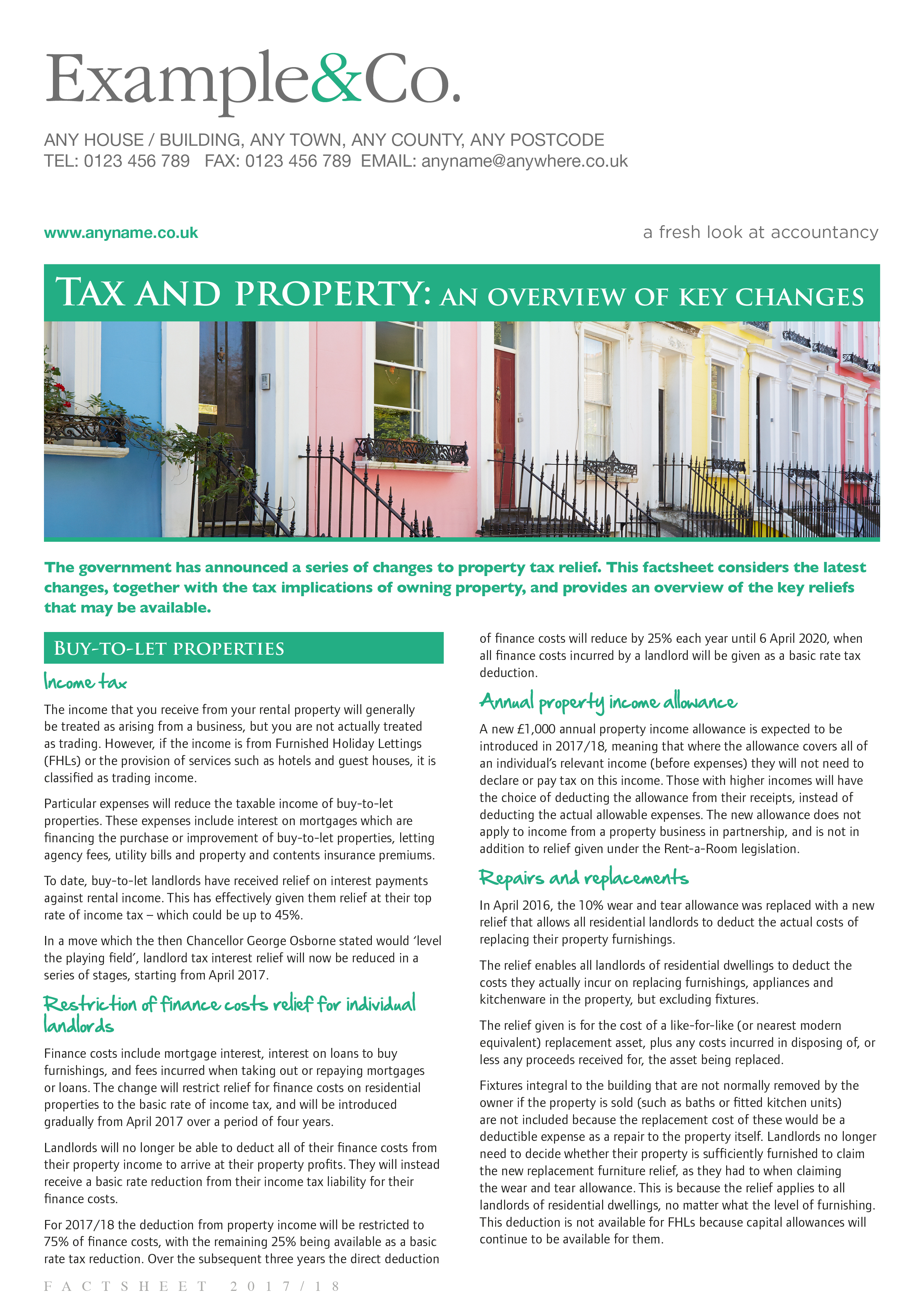 Tax and Property: an overview of key changes