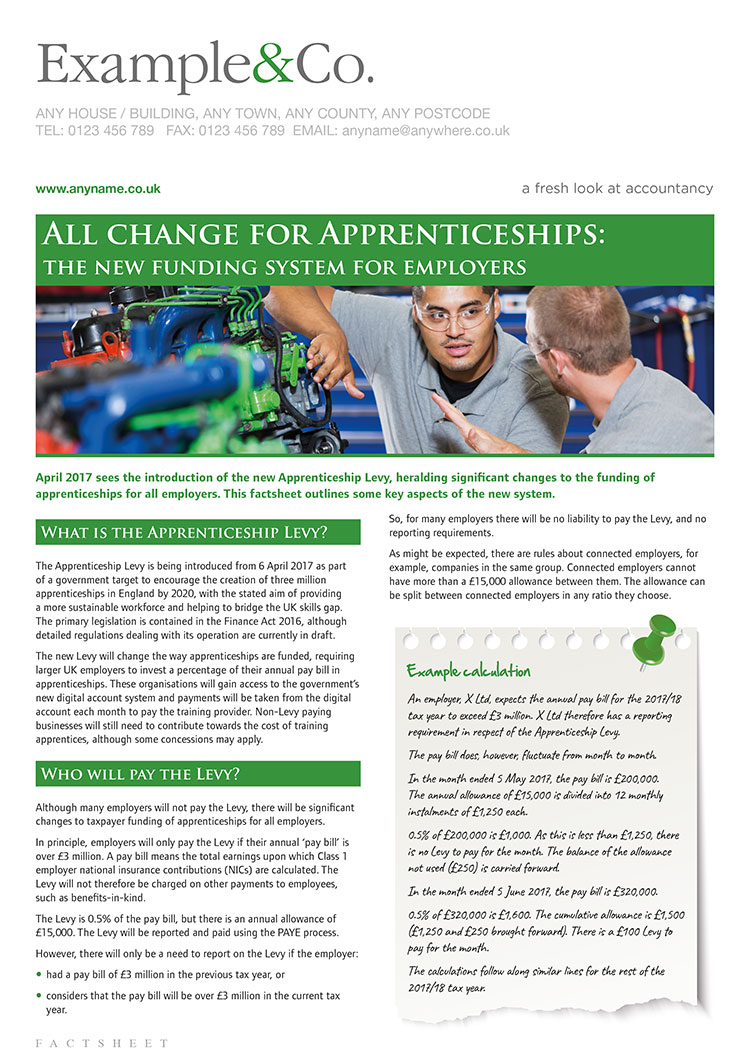 All change for apprenticeships: the new funding system for employers